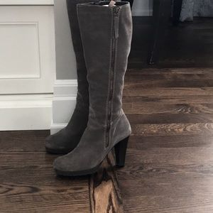 BROWNS Suede Heel Boots, Made in Italy